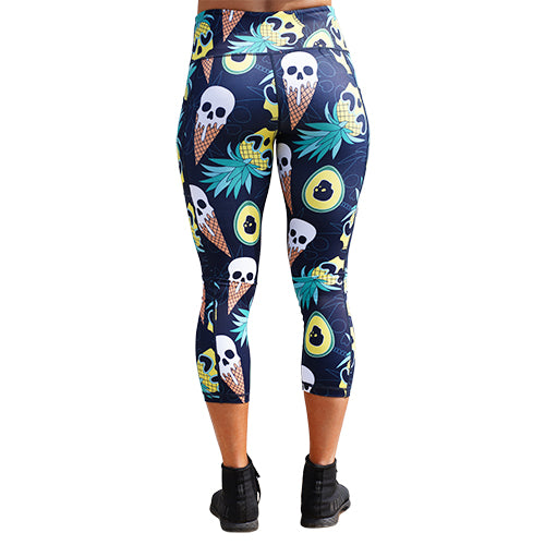 Ice Cream Skull Leggings