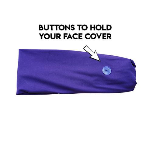 Button Headband - Purple