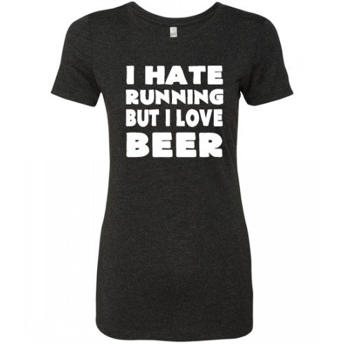 I Hate Running But I Love Beer Shirt