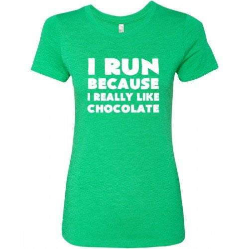 I Run Because I Really Like Chocolate Shirt