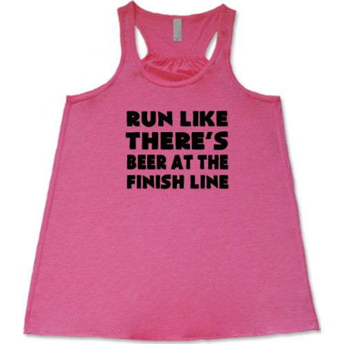 Run Like There's Beer At The Finish Line Shirt
