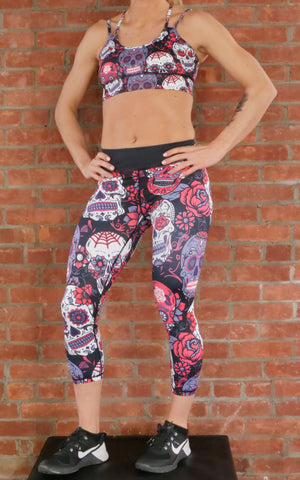 Paint Splatter Capri Leggings