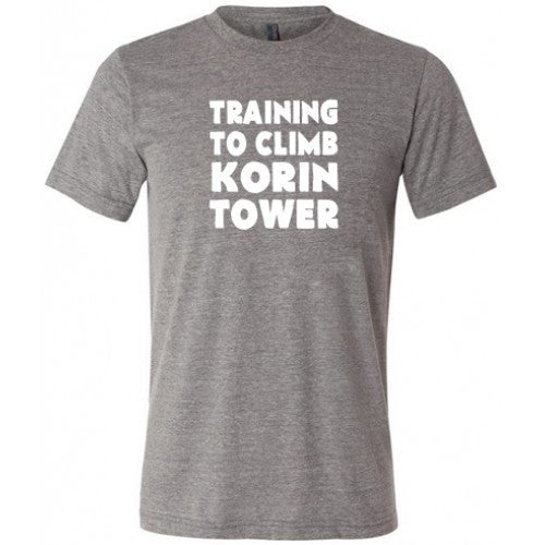 Training To Climb Korin Tower Shirt Mens