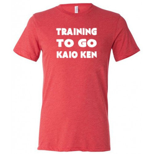 Training To Go Kaio Ken Shirt Mens