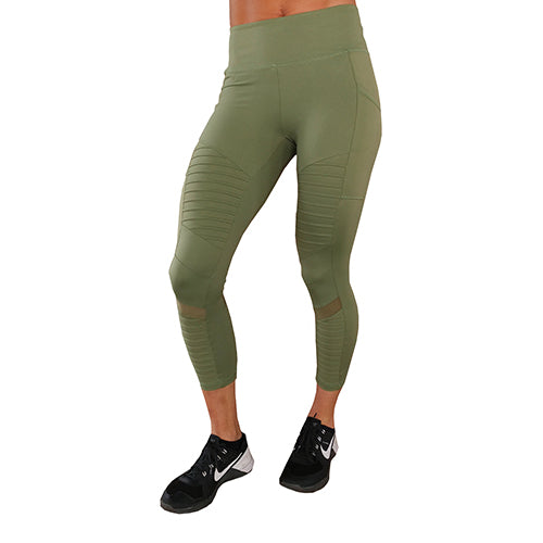 Army Moto Capri Leggings