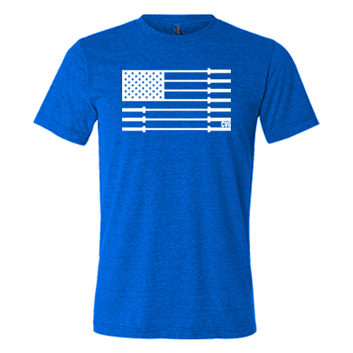 Barbell American Flag Shirt Mens