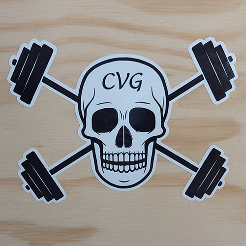 CVG Barbell Logo Sticker