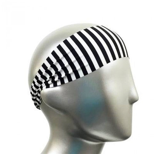 Black & White Stripes Headband