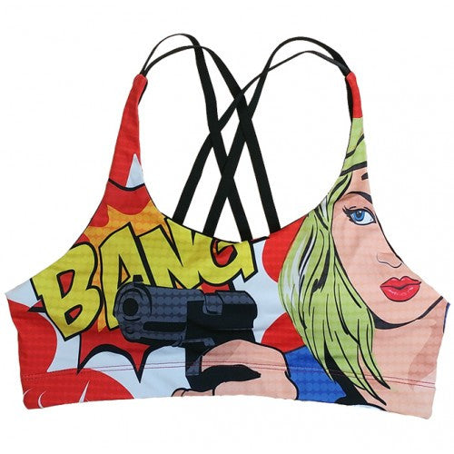 Comic Book Sports Bra