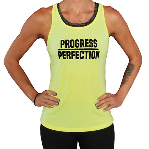 Progress Over Perfection Open Back Tank Top