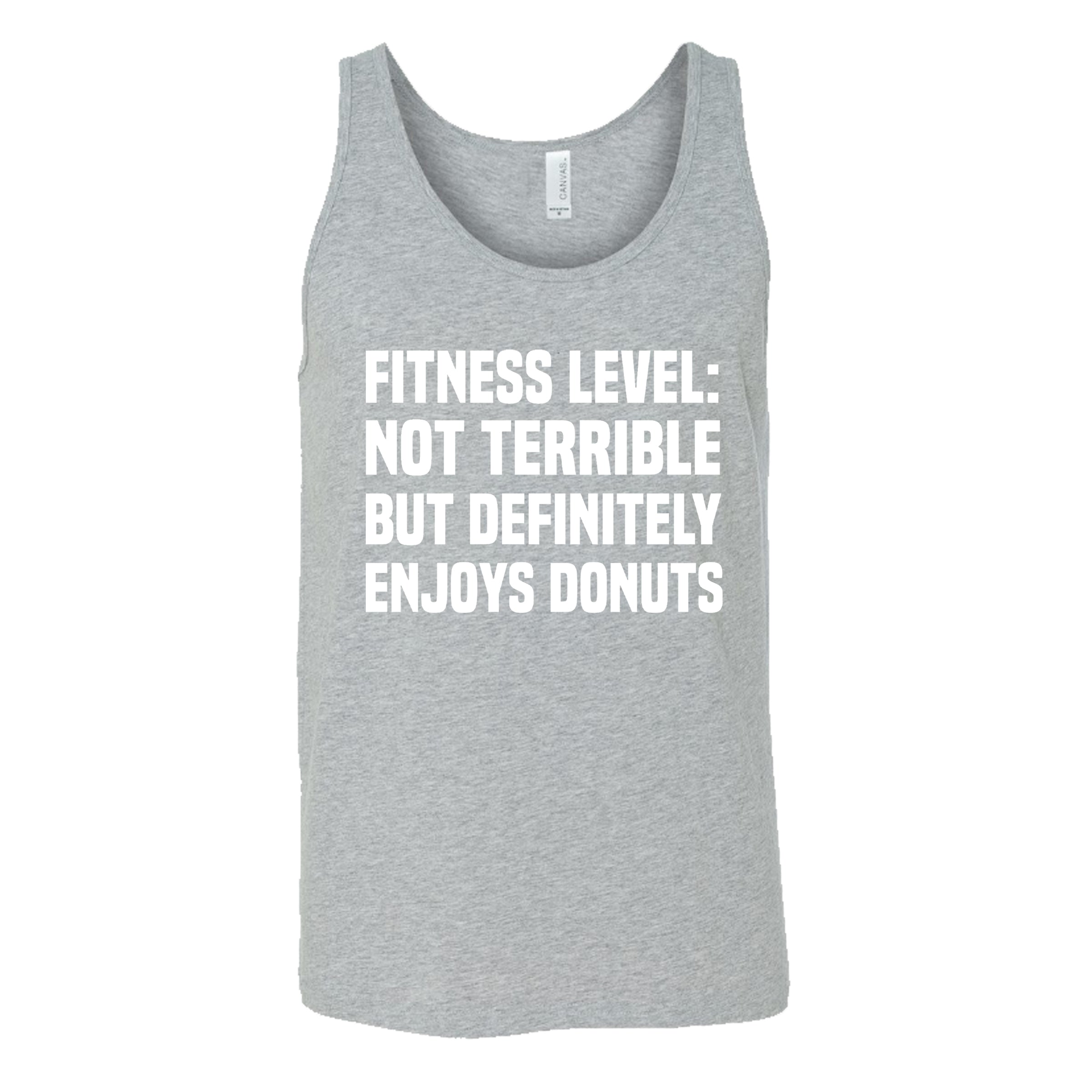 Fitness Level Not Terrible But Definitely Enjoys Donuts Shirt Mens