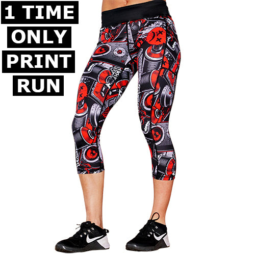 Graffiti Capri Leggings
