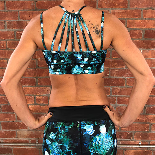 Mermaid Skull Sports Bra