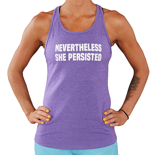 Nevertheless She Persisted Open Back Tank Top