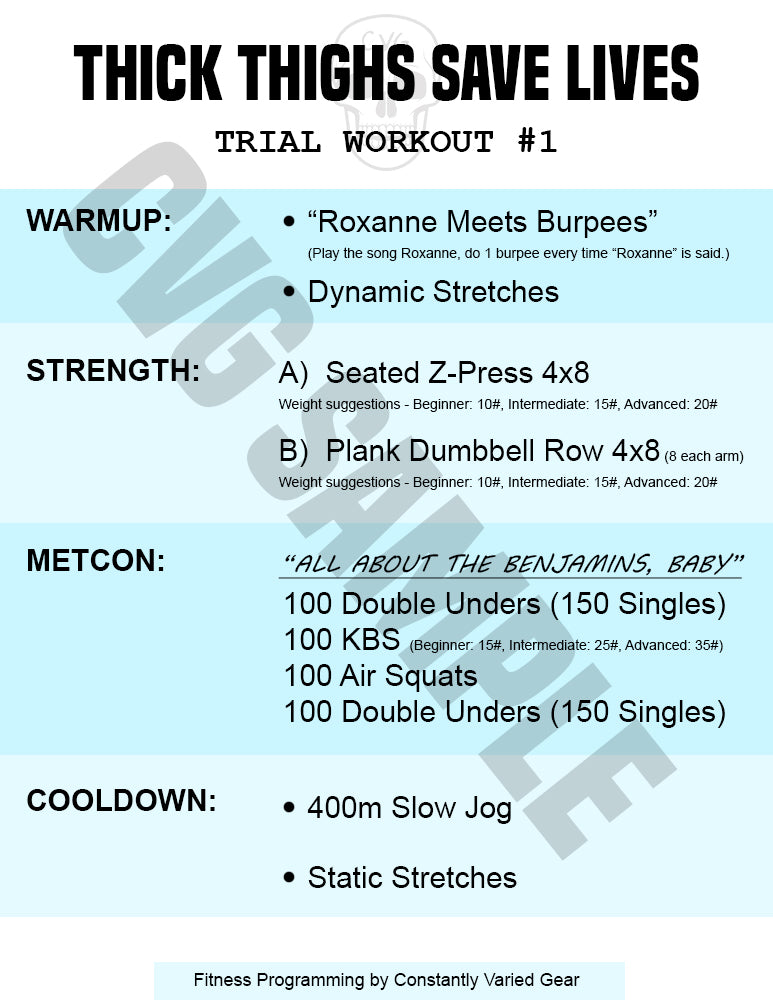 30 45 Day Workout E Book Thick Thighs Save Lives