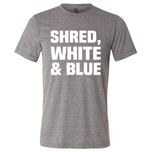 Shred White And Blue Shirt Mens