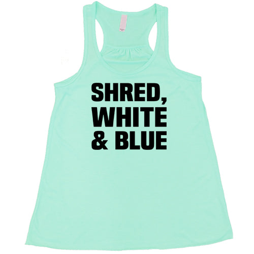 Shred, White And Blue Shirt