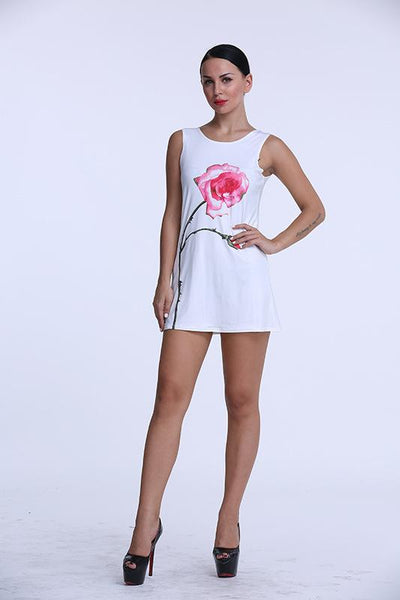 Cassie Rose Printed Mini Dress For Women