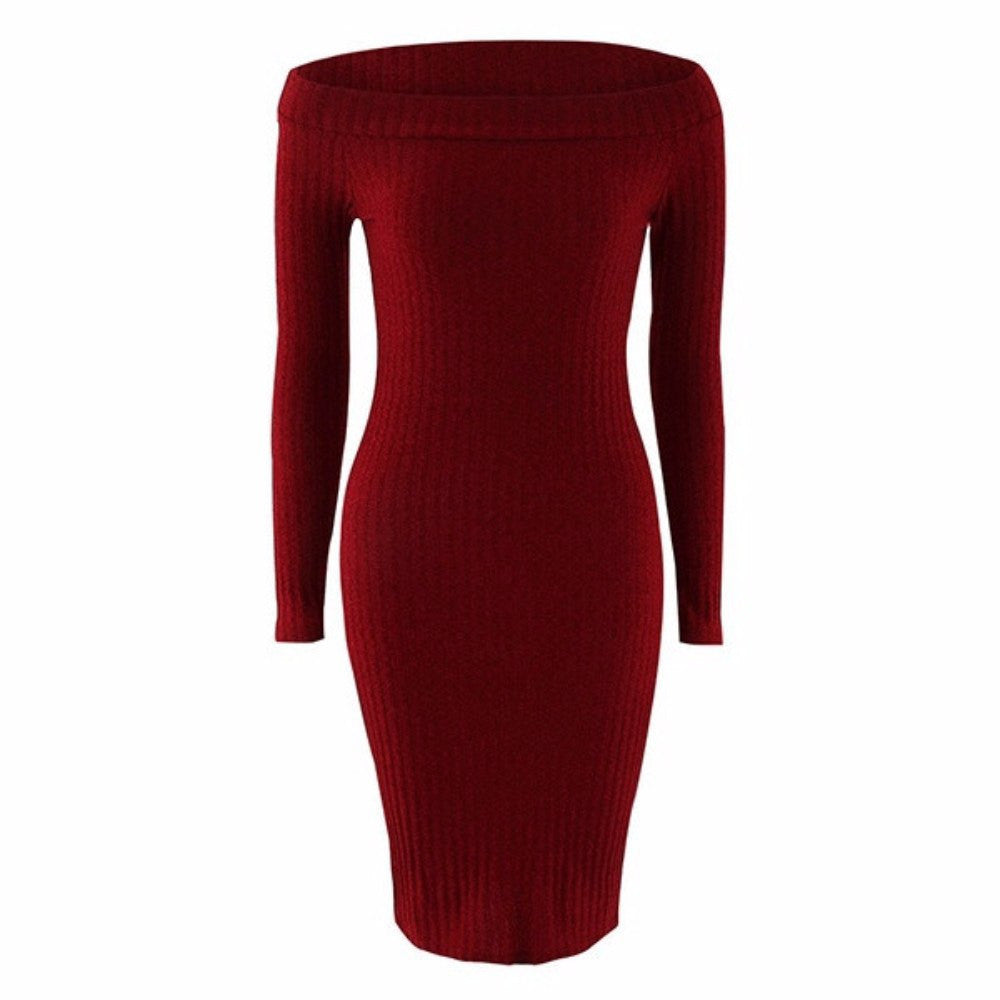 Russian Slash Neck Dress For Women