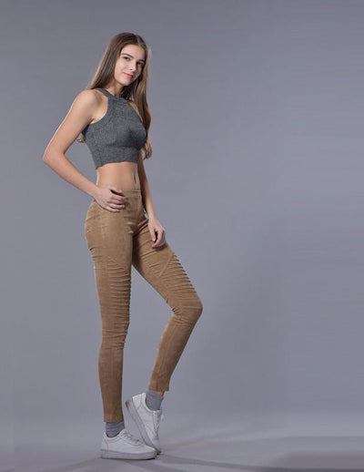 Blaz Faux Suede Leggings For Women