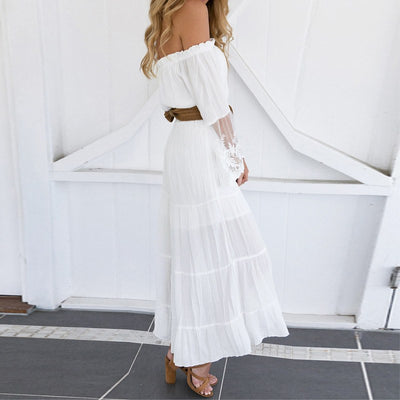 Lace Patchwork Maxi Dress For Women