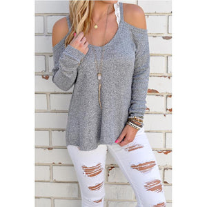Suéter Grey Long Sleeve For Women