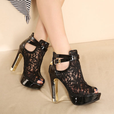 Fashion Lace High Heel Sandal For Women