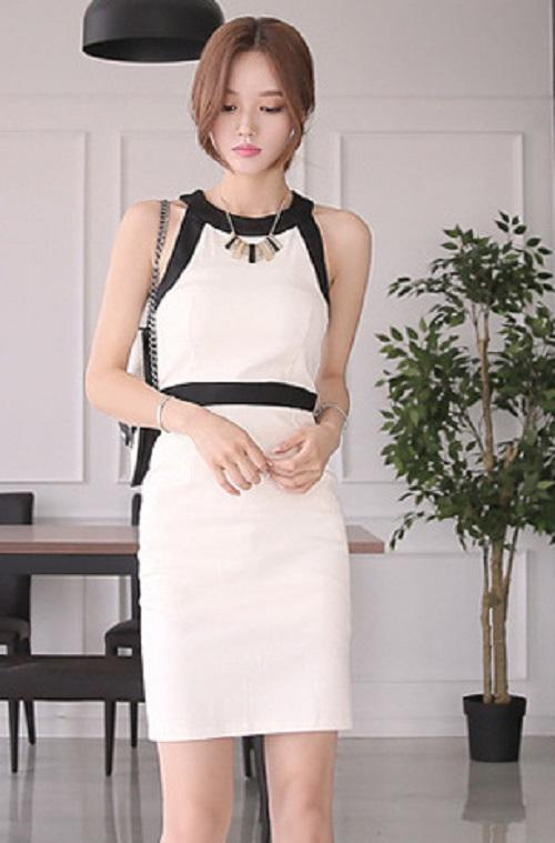 White Blossom Bodycon Dress