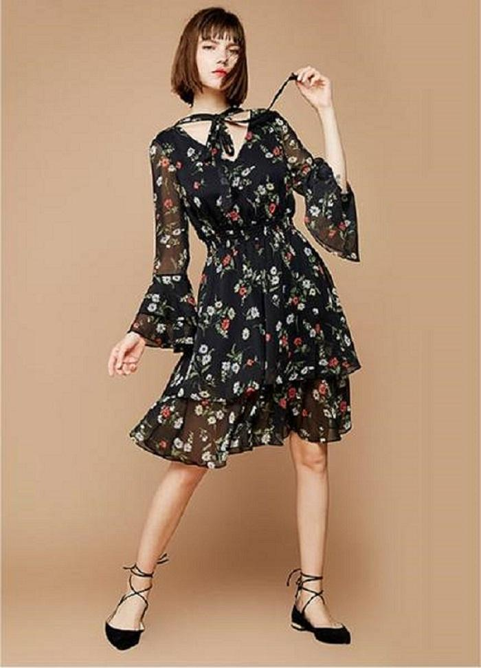 Charlize Floral Printed Dress For Women