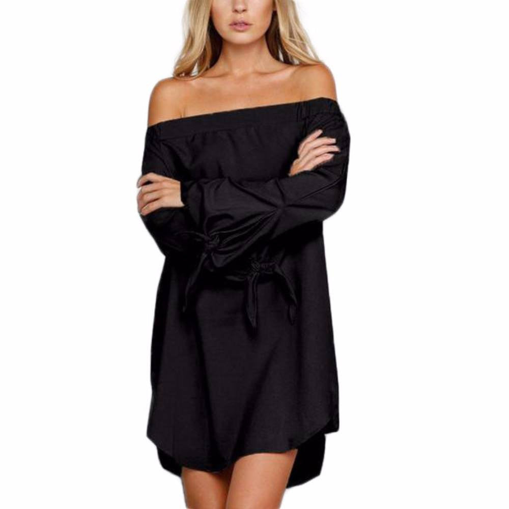 Women's Strapless Mini Off Shoulder Dress