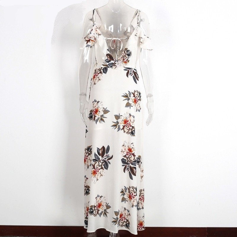Floral Print Maxi Dress For Women