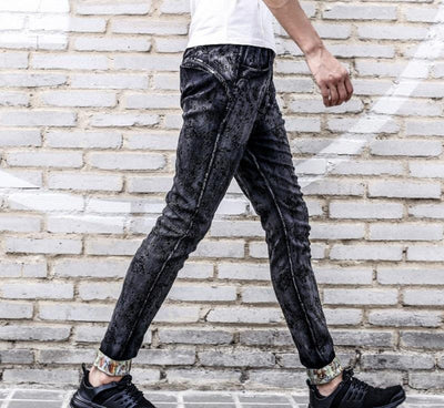 Men's Duke Black Jacquard Slim Pants