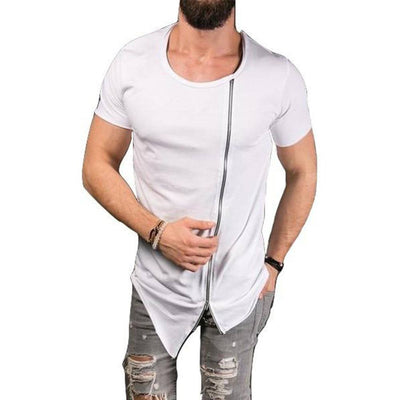 Extended Side Zip T-Shirt For Men