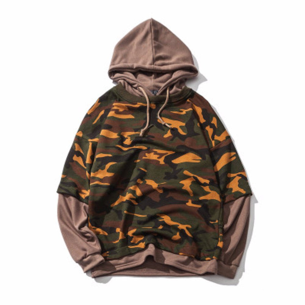 Faux Camouflage Hoodie For Men