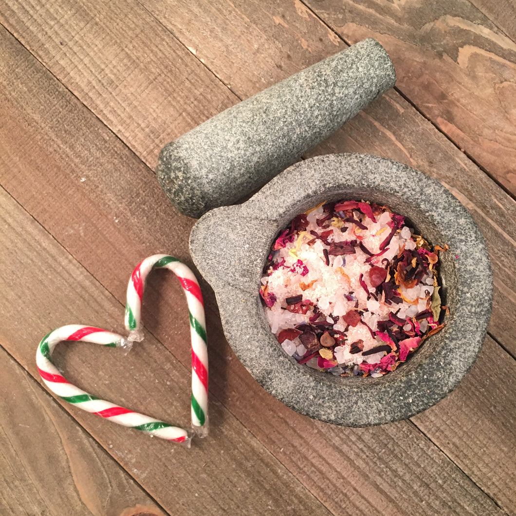 Candy Cane Luxury Spa Bath Salts - Little Tree Hugger Soap