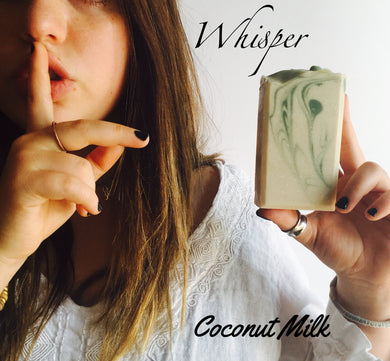 Whisper - Coconut Milk Soap Bar - Little Tree Hugger Soap