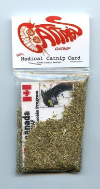 Cattabis catnip bag with card