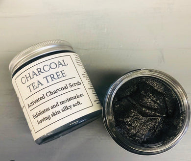 Charcoal Tea Tree Scrub- Activated Charcoal Scrub