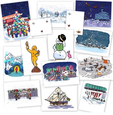 Alex Plante Christmas Postcards
