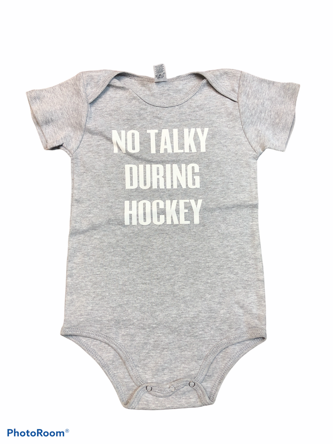 No Talky During Hockey onesie