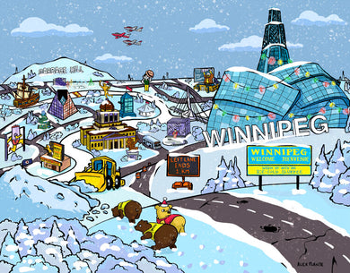 Alex Plante Winnipeg Simpsons Posters & Post Cards