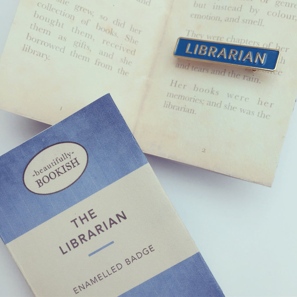 Blue Librarian Badge