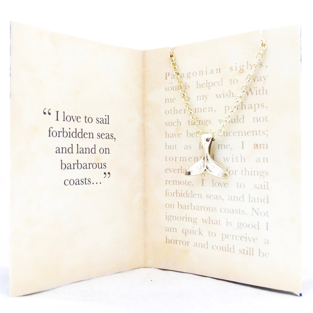Moby Dick Necklace - Whale Tail