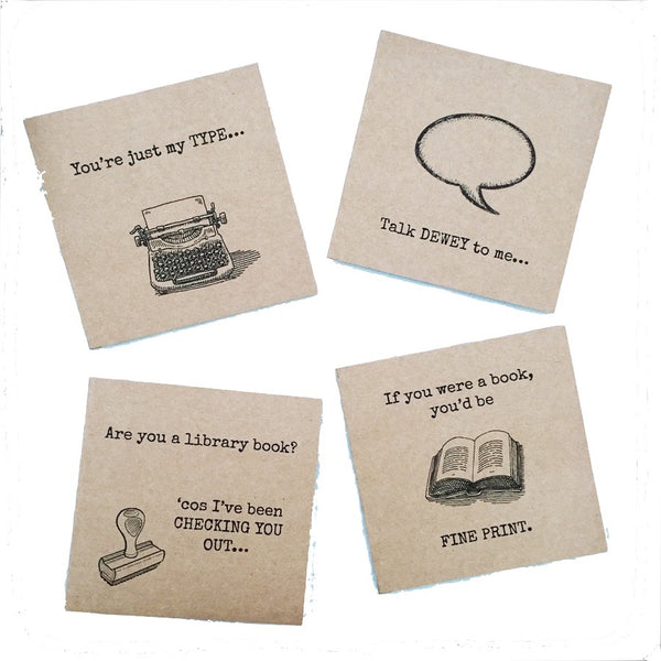 'Are you a library book?' card
