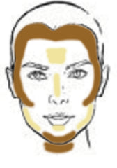 Mirabella Highlight/Contour Inverted Triangle Face Chart