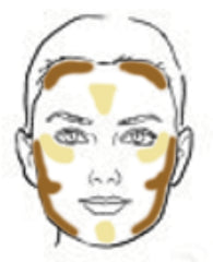 Mirabella Contour/Highlight Square Face Chart