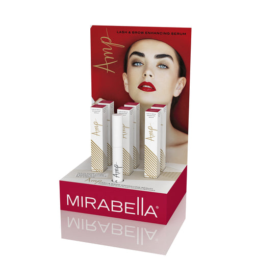 Amp Lash & Brow Enhancing Serum Display - Mirabella Beauty