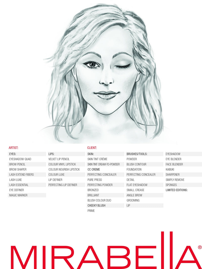 Face Chart -  Pack of 50 - Mirabella Beauty