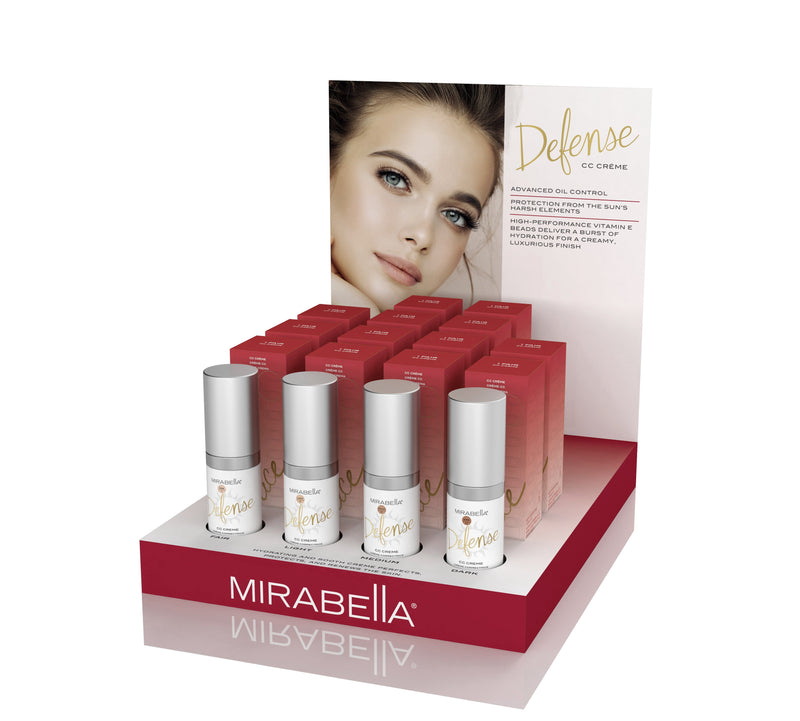 Defense CC Créme Point of Purchase Display Intro Kit - Mirabella Beauty