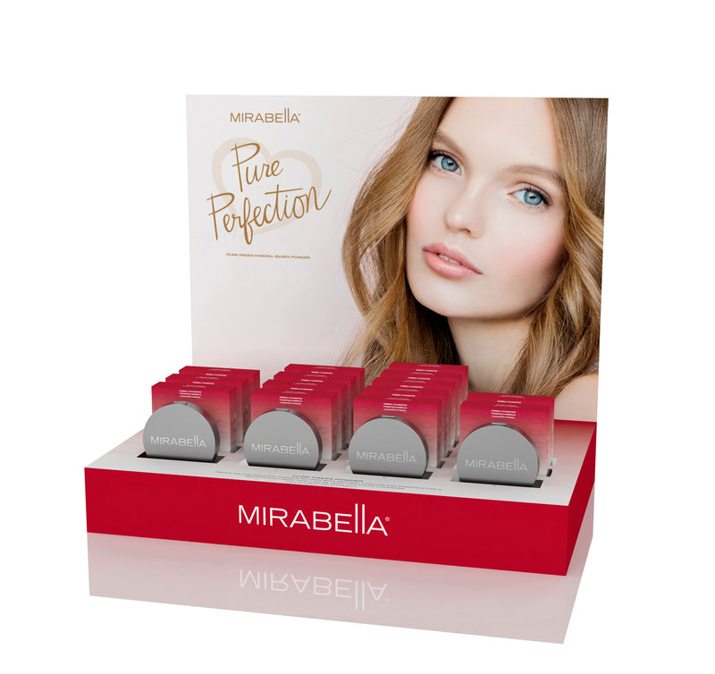 Pure Press Mineral-Based Powder Foundation Point of Purchase Display Intro Kit - Mirabella Beauty